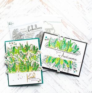 Bilde av Pinkfresh Studio Lush Greenery stamp set