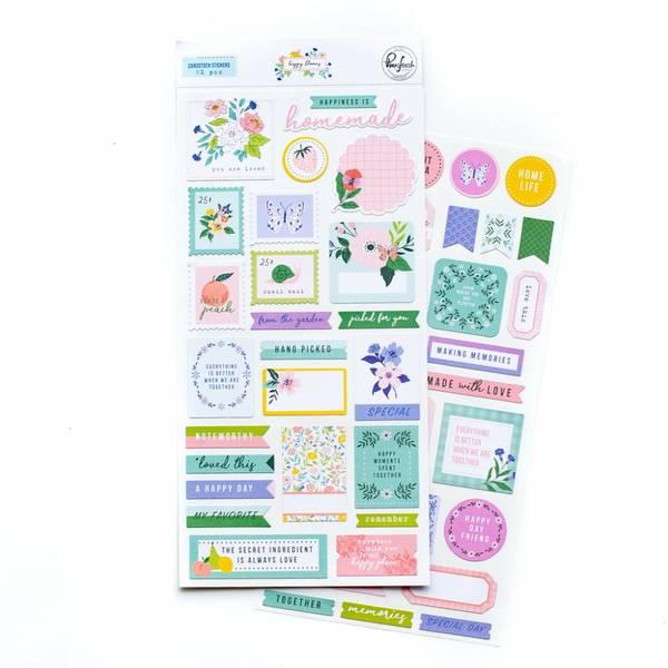Pinkfresh Studio Happy Blooms Cardstock stickers