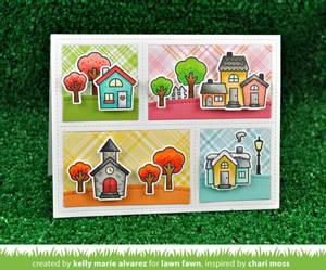 Bilde av Lawn Fawn Happy Village Stamp Set