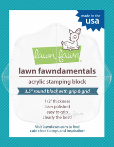 Bilde av Lawn Fawn Acrylic Block 3,5'' round