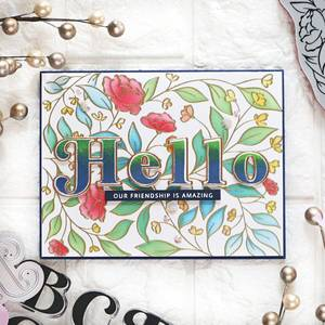 Bilde av Pinkfresh Studio Lea's Ornate Uppercase stamp set