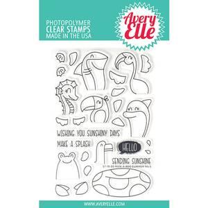 Bilde av Avery Elle Peek-A-Boo Summer Pals Clear Stamps