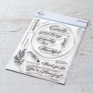 Bilde av Pinkfresh Studio Oval Foliage stamp set