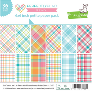 Bilde av Lawn Fawn Perfectly Plaid Remix Petite Paper Pack
