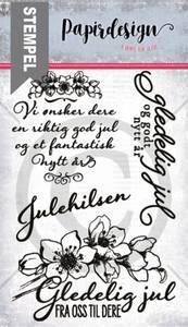Bilde av Papirdesign Julerose stempel