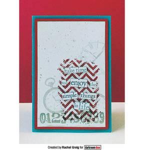 Bilde av Darkroom Door Texture Stamp - Chevron