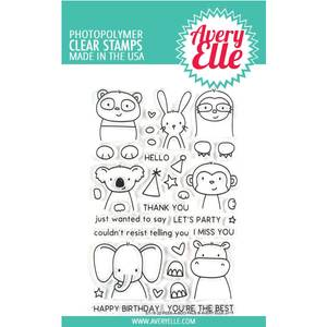 Bilde av Avery Elle Peek-A-Boo Pals Clear Stamps