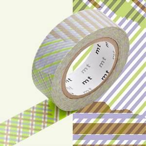 Bilde av mt Stripe-Checked Green Washi Masking Tape