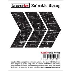 Bilde av Darkroom Door Texture Stamp - Bold Arrows