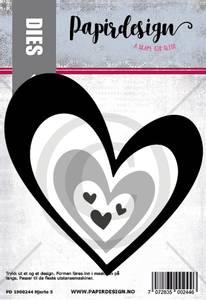 Bilde av Papirdesign Hjerte 5 dies