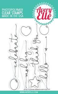 Bilde av Avery Elle Floating Wishes Clear Stamps