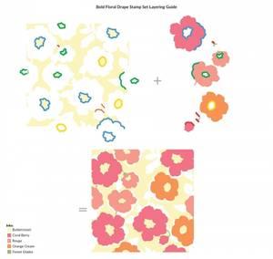 Bilde av Altenew Bold Floral Drape Stamp Set