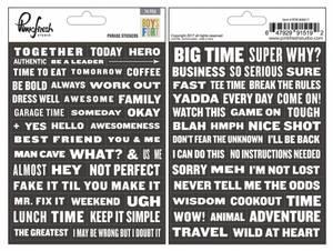 Bilde av Pinkfresh Studio Boys Fort Phrase Stickers