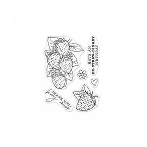 Bilde av Hero Florals Strawberries Line Art