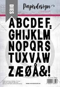 Bilde av Papirdesign Alfabet dies
