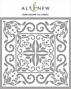 Bilde av Altenew Hand-Drawn Tile Stencil