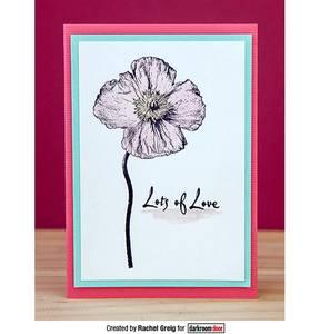 Bilde av Darkroom Door Rubber Stamps - Poppies