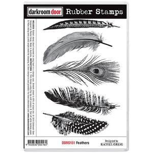 Bilde av Darkroom Door Rubber Stamps - Feathers