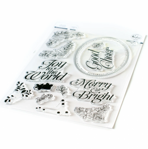 Bilde av Pinkfresh Studio Merry and Bright Frame stamp set