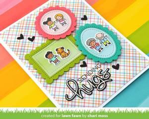 Bilde av Lawn Fawn Long Distance Hugs Stamp Set
