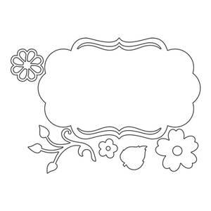Bilde av Sizzix Thinlits Fancy Label & Flowers dies