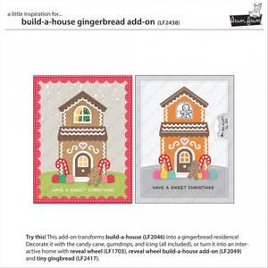 Bilde av Lawn Fawn Build-A-House Gingerbread Add-On Dies