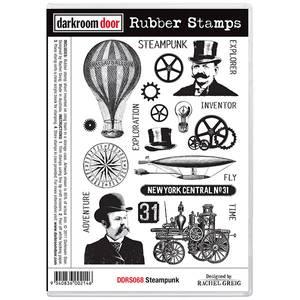 Bilde av Darkroom Door Rubber Stamps - Steampunk