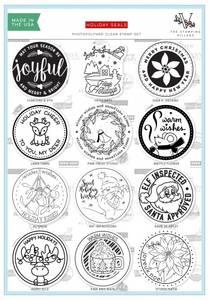 Bilde av The Stamping Village Holiday Seals Stamp Set