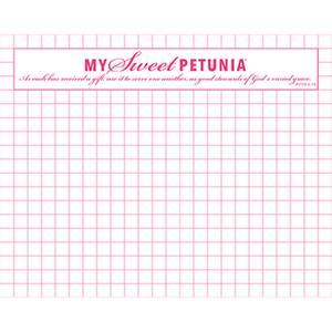 Bilde av My Sweet Petunia Mini Grid Paper Pad