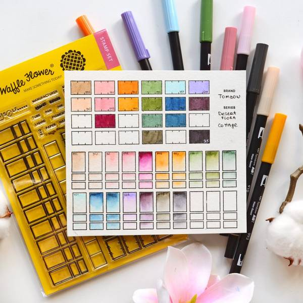 Waffle Flower Color Swatches Combo