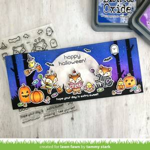 Bilde av Lawn Fawn Fox Costumes Before 'n Afters Stamp Set