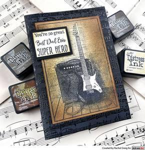 Bilde av Darkroom Door Photo Stamp - Electric Guitar