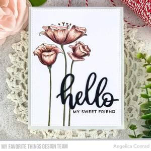 Bilde av MFT Fine-Lined Floral stamp