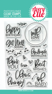 Bilde av Avery Elle Everyday Circle Tags Clear Stamps