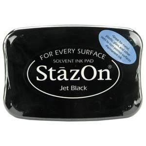 Bilde av Tsukineko StazOn Solvent Ink Pad Jet Black