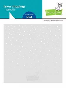 Bilde av Lawn Fawn Snowy Sky Stencil