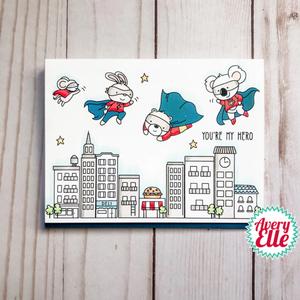 Bilde av Avery Elle Superheroes Clear Stamps