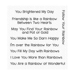 Bilde av MFT Rainbow Greetings stamp set
