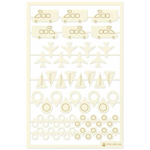 P13 Light Chipboard Embellishments Summer Vibes 06