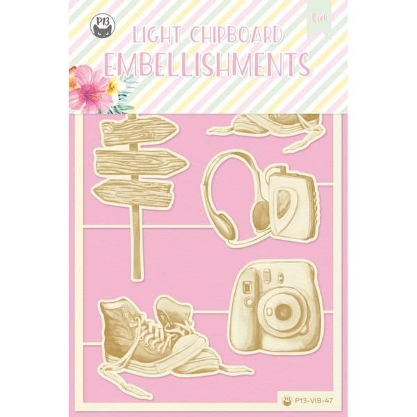 P13 Light Chipboard Embellishments Summer Vibes 04