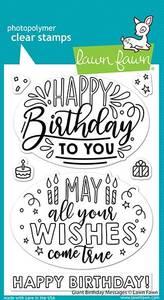 Bilde av Lawn Fawn Giant Birthday Messages Stamp Set