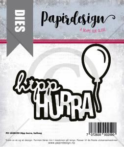 Bilde av Papirdesign Hipp hurra, ballong dies