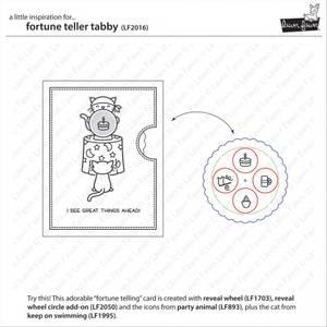 Bilde av Lawn Fawn Fortune Teller Tabby stamp set