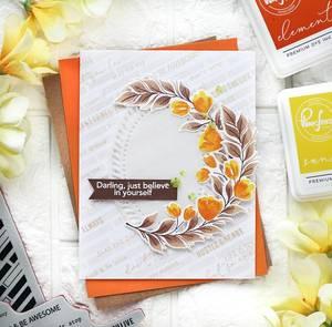 Bilde av Pinkfresh Studio Curvy Floral Vine Stamp Set