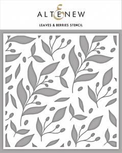 Bilde av Altenew Leaves & Berries Stencil