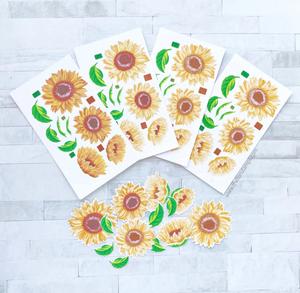 Bilde av The Ton Grouped Fresh Sunflowers stamp & die