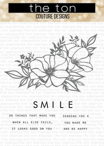 Bilde av The Ton Poppy Smiles stamp & die bundle