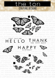 Bilde av The Ton Kaleidoscope Butterflies stamp & die