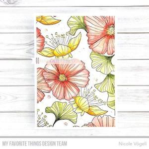 Bilde av MFT Loosely Lined Flowers Background stamp