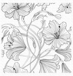 Bilde av MFT Harmonious Hibiscus Background stamp
